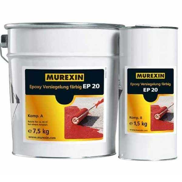 Murexin EP 20 színes epoxibevonat, A+B komponens - II. színkategória - 9 kg