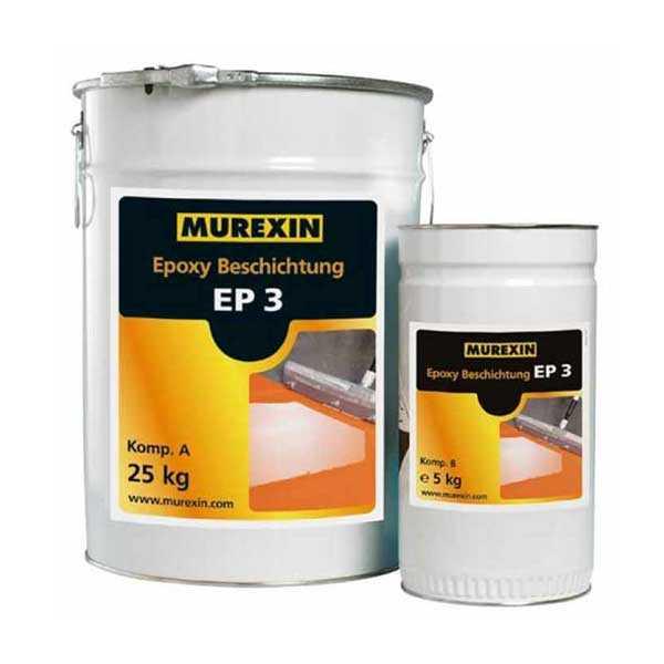 Murexin EP 3 epoxibevonat , A+B komponens - III. színkategória - 30 kg