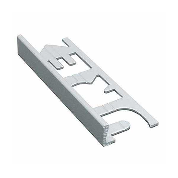 Murexin szögletes kialakítású fém elzárósín 3 fm, MG 11 - matt nemesacél - 11 mm