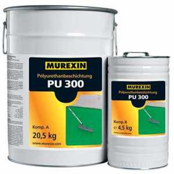 Murexin PU 300 poliuretán bevonat, A+B komponens - II. színkategória - 25 kg
