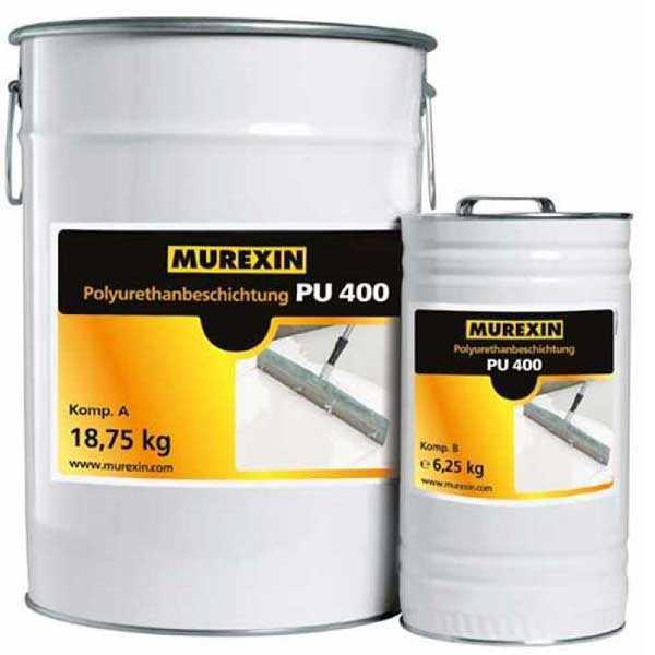Murexin PU 400 Poliuretán bevonat, A+B komponens - RAL 9010 tiszta fehér - 30 kg