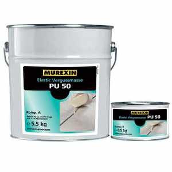 Murexin PU 50 rugalmas fugakitöltő anyag, A+B komponens - 6 kg