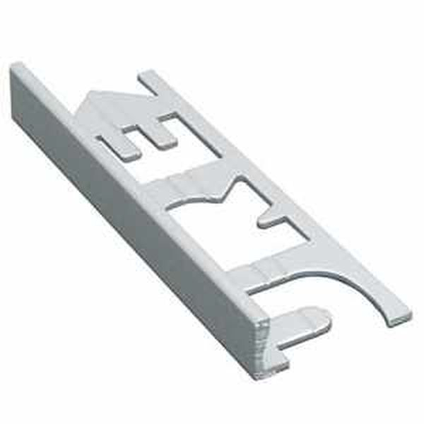 Murexin szögletes kialakítású fém elzárósín 3 fm, MG 6 - fehér alu - 6 mm
