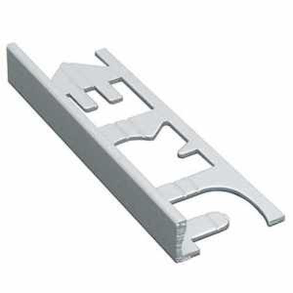 Murexin szögletes kialakítású fém elzárósín 3 fm, MG 10 - fehér alu - 10 mm